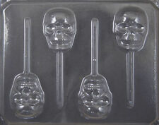 Skull Halloween Lollipop Chocolate Candy Mold #2428 - NEW