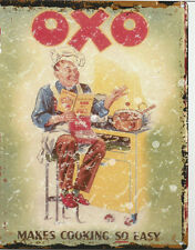 Collectables small OXO KITCHEN ADVERTISING METAL WALL SIGN  pub bar shop cafe tea room tin