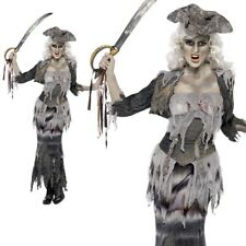 Ghost Ship Ghoulina Costume - Halloween Fancy Dress Pirate Ladies Zombie Womens