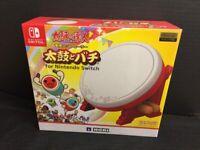 Nintendo Switch TAIKO NO TATSUJIN Drum & BACHI set For Switch Controller JAPAN