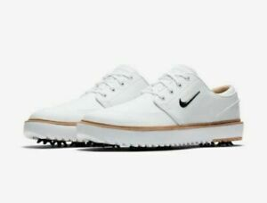 Men's Nike Janoski G Tour Golf Shoes Black White Vachetta Tan BV8070-100 Size 12