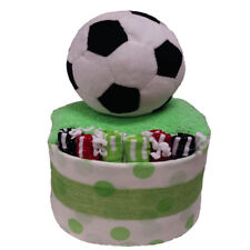 Nappy Cake New Born Boy My First Soccer Baby Gift