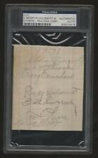 Rudy Hulswitt (d1950) cut signature signed page autographed auto PSA T206 player