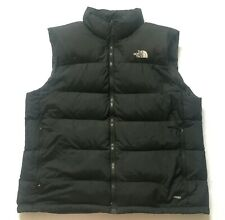 The North Face 700 Down Gilet Puffer Bomber Vest Black Body Warmer Men Size XL