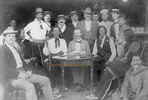 1900s Buffalo Bill Cody Wild West Show King Edward & Crew Film Photo Negatives(2