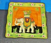 NEW WEST INDIES DINNER SALAD SERVING PLATE ELEPHANT DESIGN