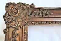 SM ANTIQUE FIT 6X10 GOLD PICTURE FRAME WOOD GESSO ORNATE FINE ART FRENCH BAROQUE