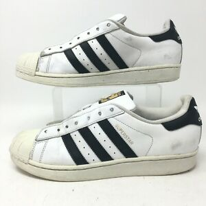 Adidas Originals Superstar Sneakers Womens 9 White Leather Low Top Casual C77153