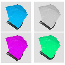"""10/20/50/100/1000 Pack of 6x9/9x12/11x14"""" Coloured Plastic Self Sealing Mail Bag"""