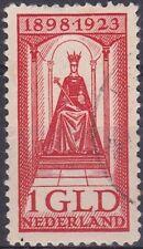 1923 25 jarig regeringsjubileum Koningin Wilhelmina 1 gulden rood  NVPH 129