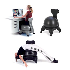 New Balance Ball Chair Fitness Exercise Workout Yoga Office Gym Back Pain Relief