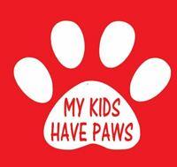 vinyl decal sticker kids have paws Car truck window Laptop Cup Yeti WHT/BLK