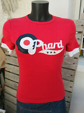 T-shirt rouge PHARD manches courtes Taille S Neuf