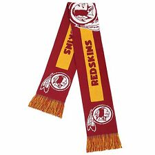 Washington Redskins Scarf Knit Winter Neck - Double Sided Big Team Logo New 2016