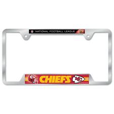Kansas City Chiefs License Plate Frame Metal