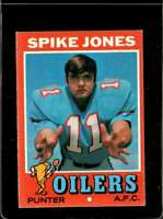1971 TOPPS #64 SPIKE JONES VGEX RC ROOKIE OILERS  *X2622