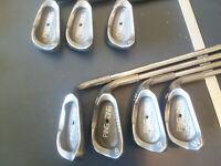 Ping Zing iron set, 4-pw, KT-M stiff steel shafts, standard length