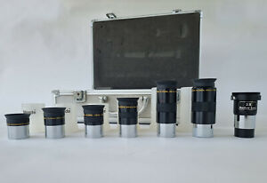 Meade Telescope Eyepieces in Metal Case