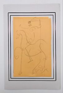 ORIGINAL SIGNED Salvadore Dali Art Drawing Sketch Horse & Rider Unframed