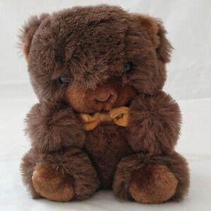 Vtg Groom Teddy Bear America Wego Korea Brown Plushie Plush Stuffie Stuffed