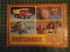 Vintage Original Matchbox Retailers Catalogue 1974. VGC