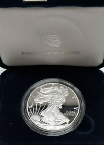 2016-W Proof American Silver Eagle S$1 1 Oz Troy .999 Fine in OGP With COA
