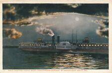 BATH ME – Main Central Ferry Boat Ferdinando Gorges by Moonlight