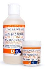 Paquete de Cuidado de Perro D-10: Champú D-10 + D-10 Ungüento para mantener saludable la piel y el pelaje