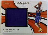 2018 Panini Immaculate Collection Remarkable DeAndre Ayton, #'d /99