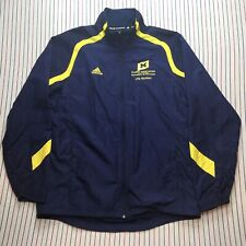 291 Adidas Jacket BLUE University Michigan Alumni Association Life Member SMALL