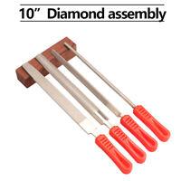 "4Pcs Diamond Needle File Set 6/"" 150MM for Jewelers Metal Ceramic Glass Grinding"