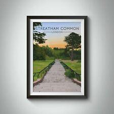 More details for streatham common london travel poster - framed - vintage - bucket list prints