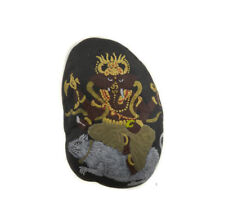 Ganesha Kit & O-Ring Stone with Ganesh Hand Painted Elephant Dieu Hindu 6271