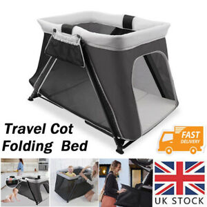 Portable Folding Baby Travel Cot Crib Bassinet Bed Playpen Playard with Mattress