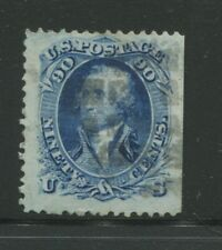 1867 United States Postage Stamp #101 Used Cork Cancel Small Faults Certified