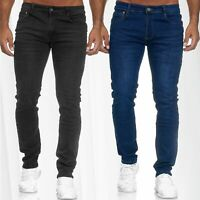 Herren Jeans Hose Denim Trousers Klassisch Slim Fit Used Washed Normal Waist