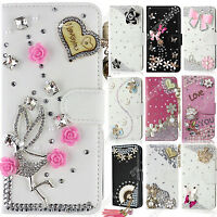 Case For Doogee Phone Bling Diamond Flip Leather Wallet Rhinestone Cover Sleeve