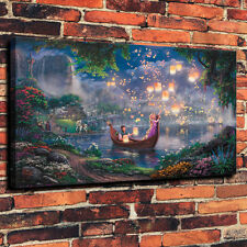 HD Print Disney Tangled and Trevi Lamp Home Art Deco Painting on Canvas 24x36