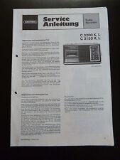 Original Service Manual  Grundig  C 3200  K,L C 3150 K,L