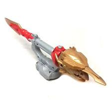 """Power Rangers Megaforce Gaceta Rojo Espada Ranger 12"""" arma con sonido FX Raro"""
