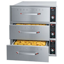 "Hatco HDW-3BN Built-In Narrow Warming Drawer with 3 Drawer and 6"" Deep Food Pan"