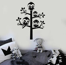 Vinyl Wall Decal Nursery Tree Birds Kids Room Stickers Mural (ig4548)