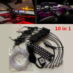 Auto Atmosphere Light Ambient Lamps APP Control 64Colors Optic Fiber Decoration
