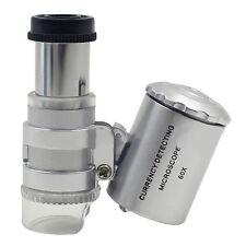 Portable Loupe Eclairante Microscope LED Pour Timbres Monnaies Billets Bijoux NF