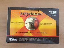 Wilson Maximum Golf Balls 1 Dozen Straighter Longer New