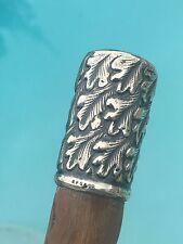OLD Antique Victorian Art Nouveau Sterling Presentation Walking Stick Cane.NICE!