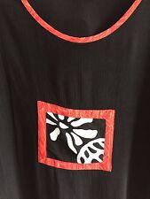 GLOBE TROTTER Bali Batik Top Hand Made Rayon S/S Black Crop Indonesia Women's M