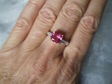 Mystic Pink Topaz ring, Size P/Q, 2.64 carats, 2.94 grams of 925 Sterling Silver