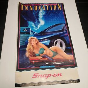 1993 SNAP-ON TOOLS Pin-Up Swimsuit Girls Collector's Calendar Retro Vintage (fk)