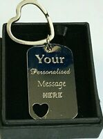 Not sister by blood but sisters by heart Key ring Gift Silver Personalised BFF